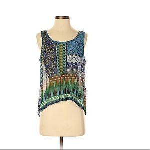 Patrons of Peace Patterned Open back BOHO Tank Top
